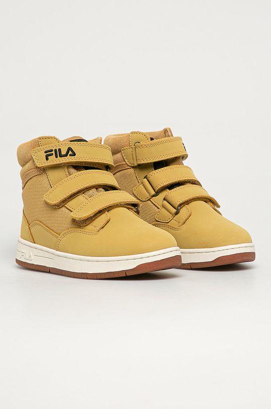 Fila - Buty dziecięce Knox Velcro beżowy