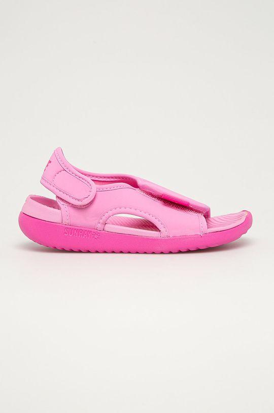 różowy Nike Kids - Sandały dziecięce Sunray Adjust 5 V2 Dziecięcy