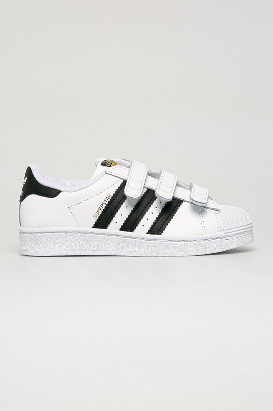 biela adidas Originals - Detské kožené topánky Superstar Detský