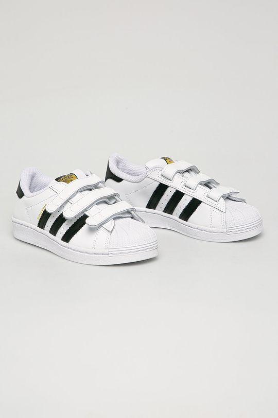 adidas Originals - Detské kožené topánky Superstar biela