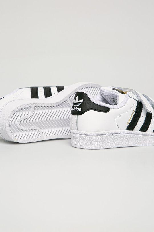 adidas Originals - Detské kožené topánky Superstar  Zvršok: Syntetická látka, Prírodná koža Vnútro: Textil Podrážka: Syntetická látka