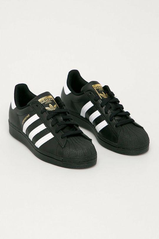 adidas Originals - Kožená obuv Superstar čierna