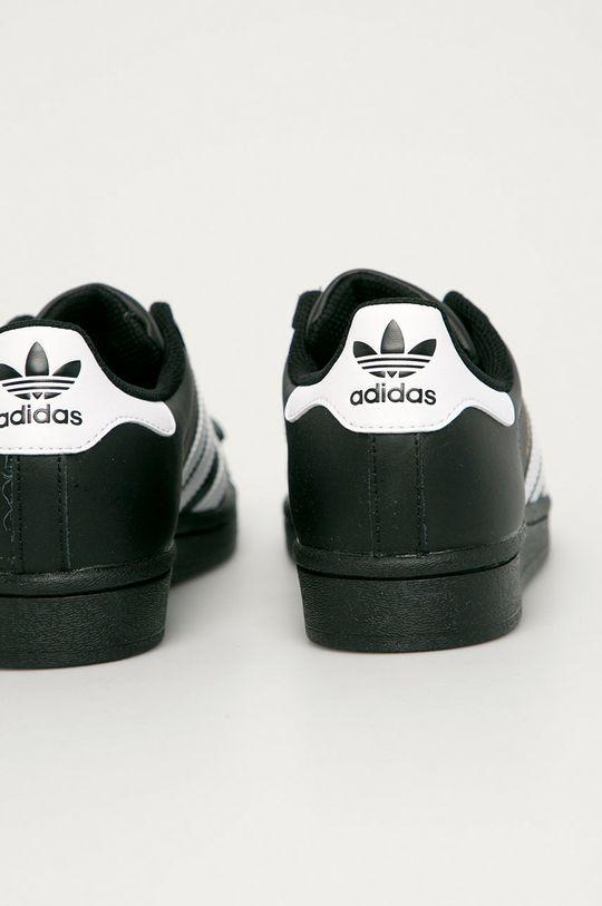 čierna adidas Originals - Kožená obuv Superstar