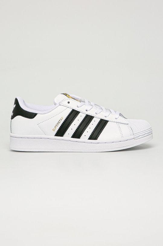 bílá adidas Originals - Dětské kožené boty Superstar Dětský