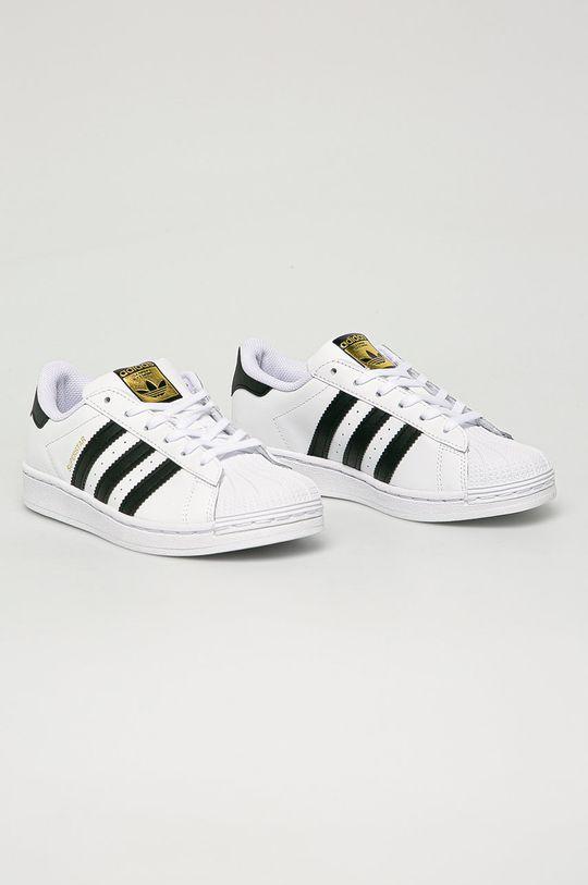 adidas Originals - Dětské kožené boty Superstar bílá
