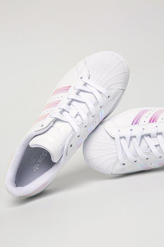 alb adidas Originals - Pantofi copii Superstar