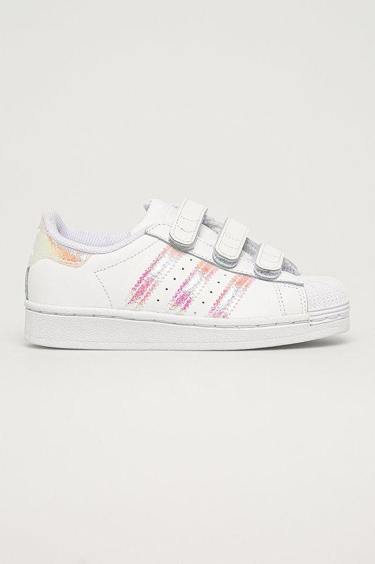 alb adidas Originals - Pantofi copii Superstar CF De copii