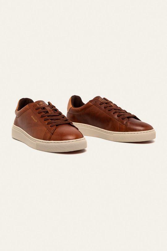 Gant - Buty skórzane Julien brązowy