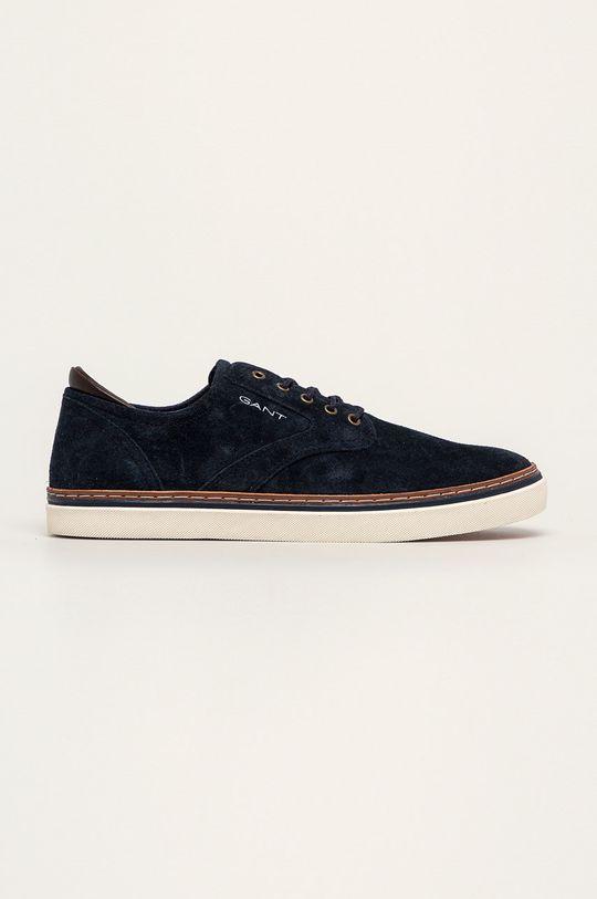 tmavomodrá Gant - Kožená obuv Prepville Pánsky