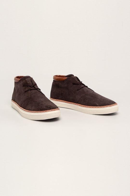 Gant - Buty skórzane Prepville ciemny brązowy