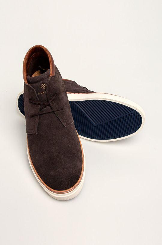 ciemny brązowy Gant - Buty skórzane Prepville