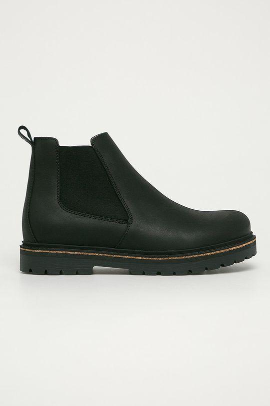 černá Birkenstock - Kožené kotníkové boty Stalon Pánský