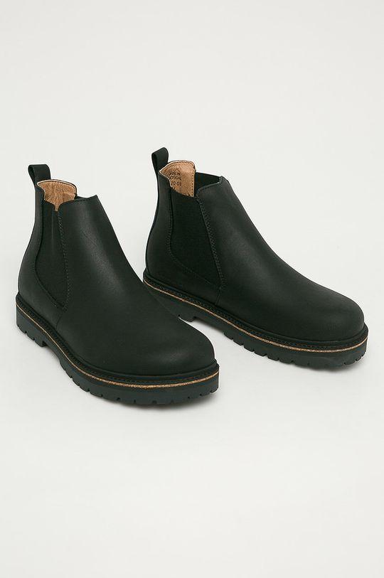 Birkenstock - Kožené kotníkové boty Stalon černá