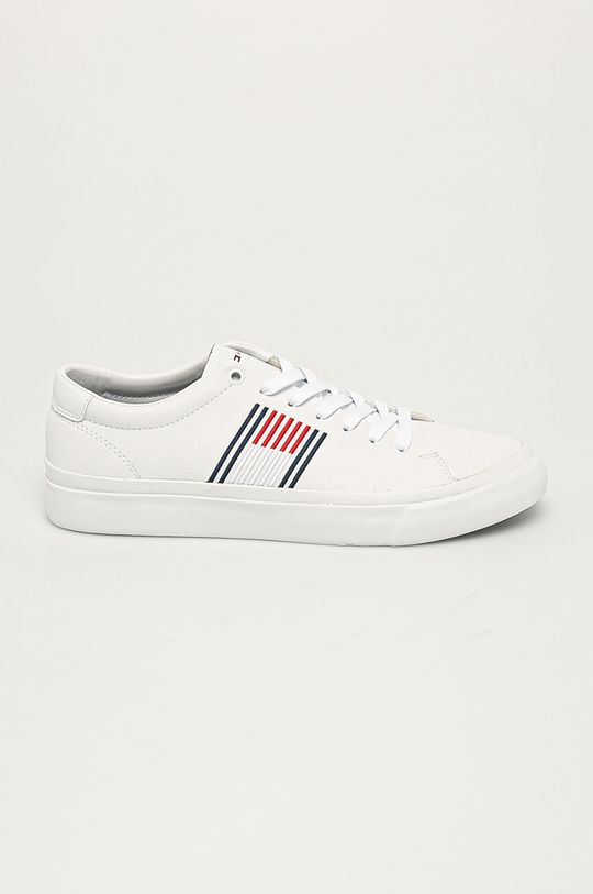 biela Tommy Hilfiger - Kožená obuv Pánsky