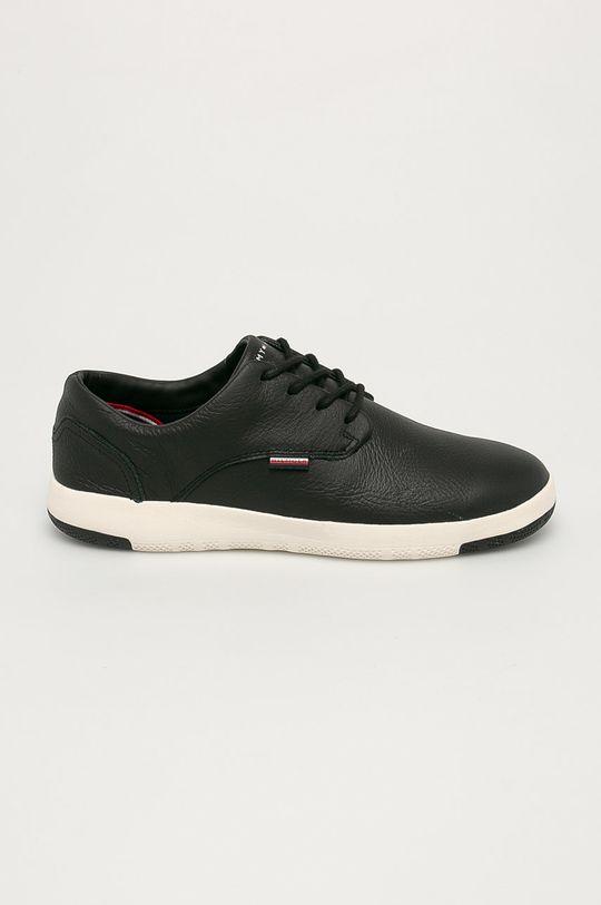 negru Tommy Hilfiger - Pantofi de piele De bărbați