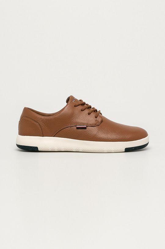 maro Tommy Hilfiger - Pantofi de piele De bărbați