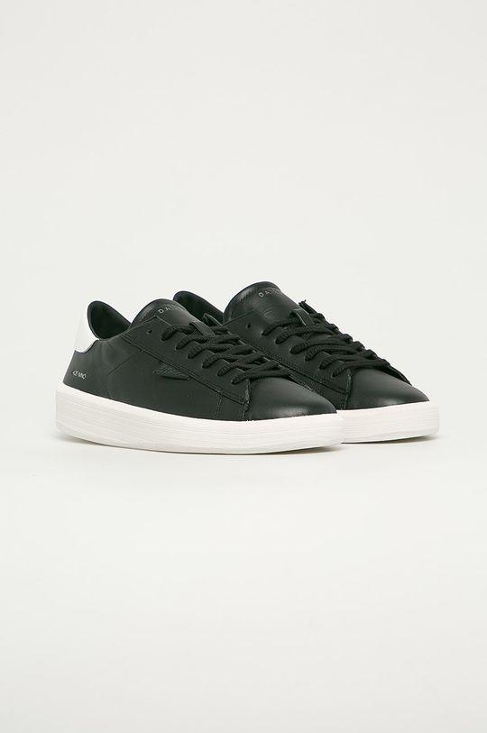 D.A.T.E. - Kožené boty Ace Mono černá