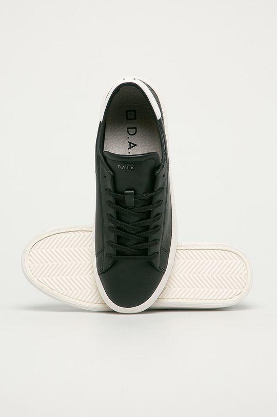 černá D.A.T.E. - Kožené boty Ace Mono