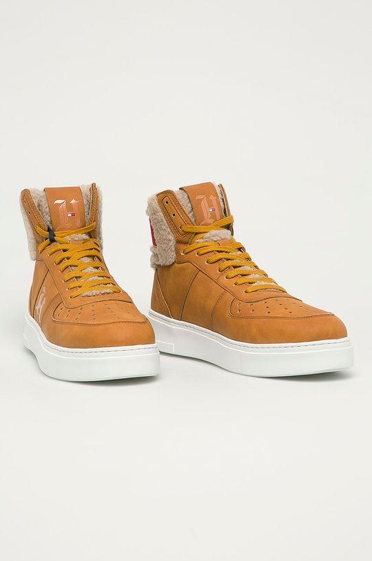 Tommy Hilfiger - Pantofi maro auriu