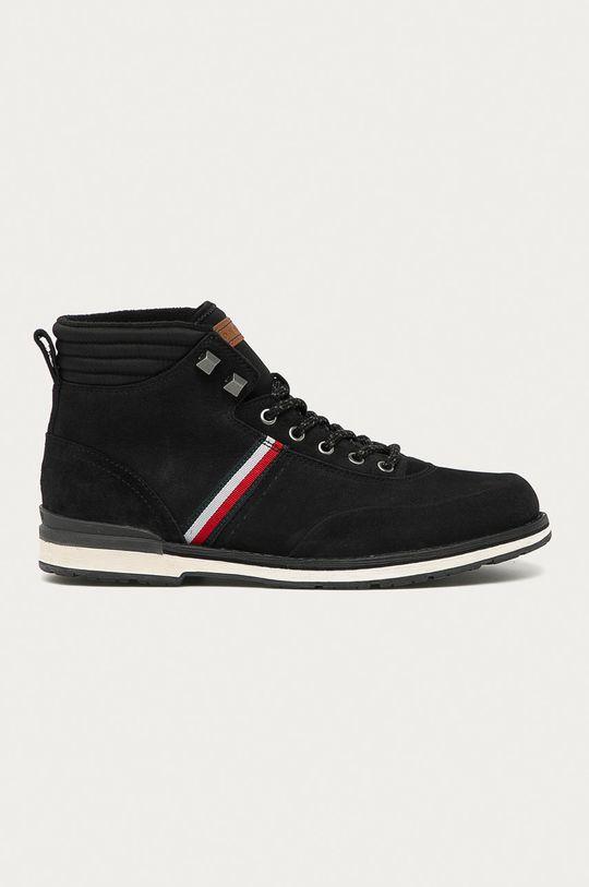 černá Tommy Hilfiger - Kotníkové boty Pánský