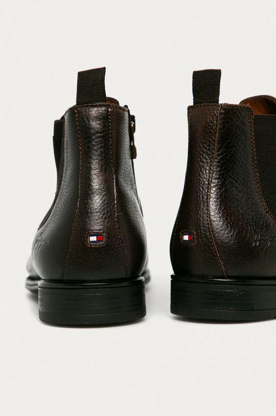 Tommy Hilfiger - Kožené kotníkové boty  Svršek: Textilní materiál, Přírodní kůže Vnitřek: Textilní materiál, Přírodní kůže Podrážka: Umělá hmota