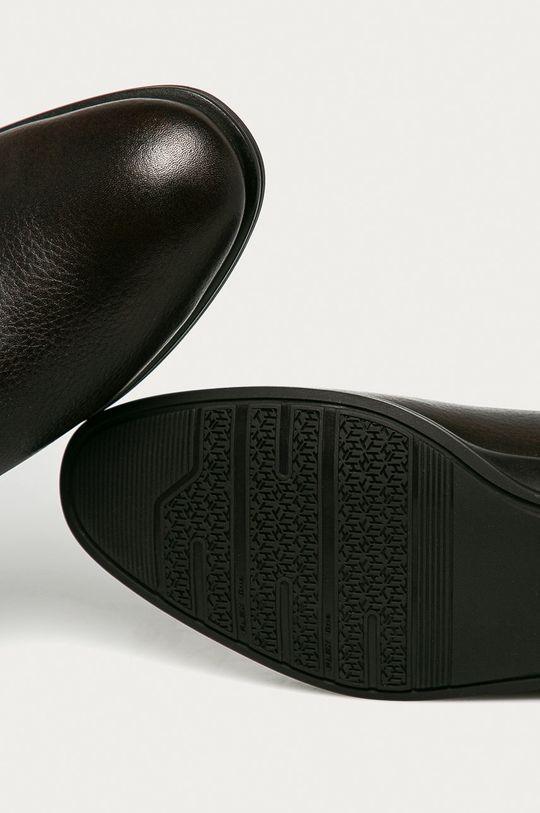 tmavě hnědá Tommy Hilfiger - Kožené kotníkové boty