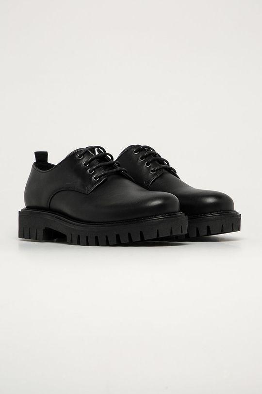Tommy Hilfiger - Pantofi de piele negru