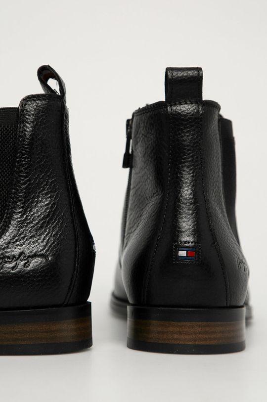 Tommy Hilfiger - Kožené topánky Chelsea  Zvršok: Prírodná koža Vnútro: Textil, Prírodná koža Podrážka: Syntetická látka