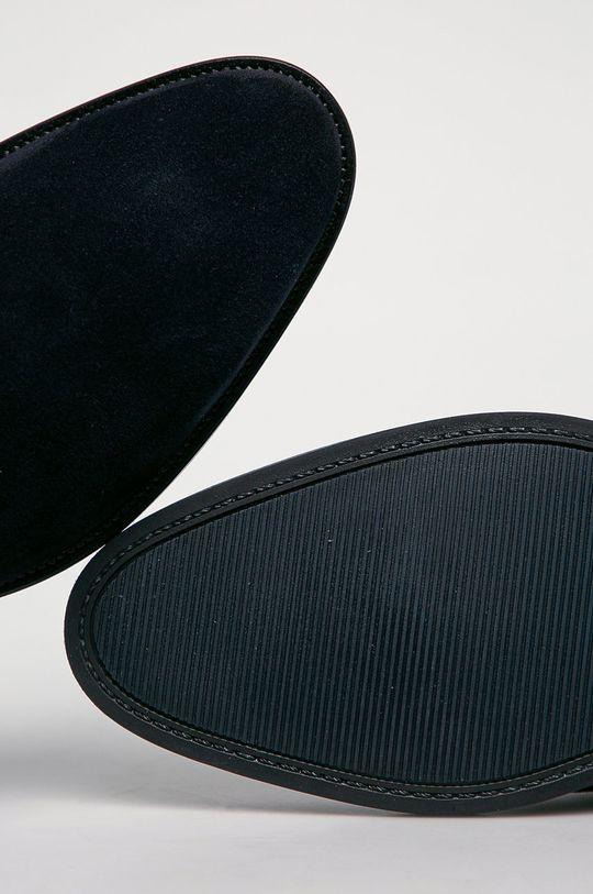 tmavomodrá Tommy Hilfiger - Semišové topánky Chelsea