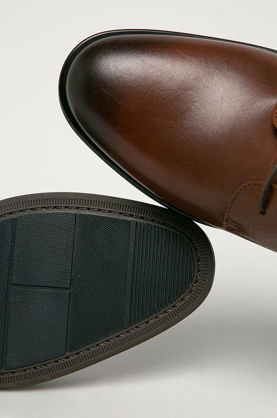hnedá Tommy Hilfiger - Kožená obuv
