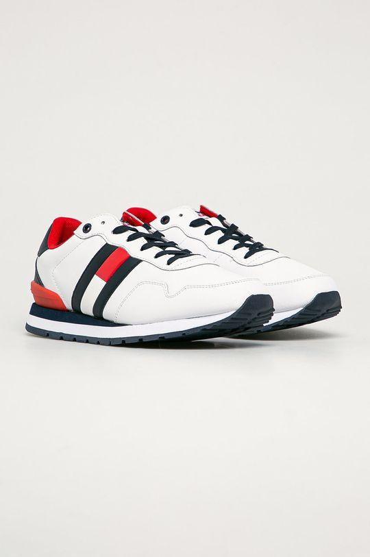 Tommy Jeans - Kožená obuv biela