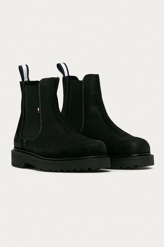 Tommy Jeans - Замшевые ботинки чёрный
