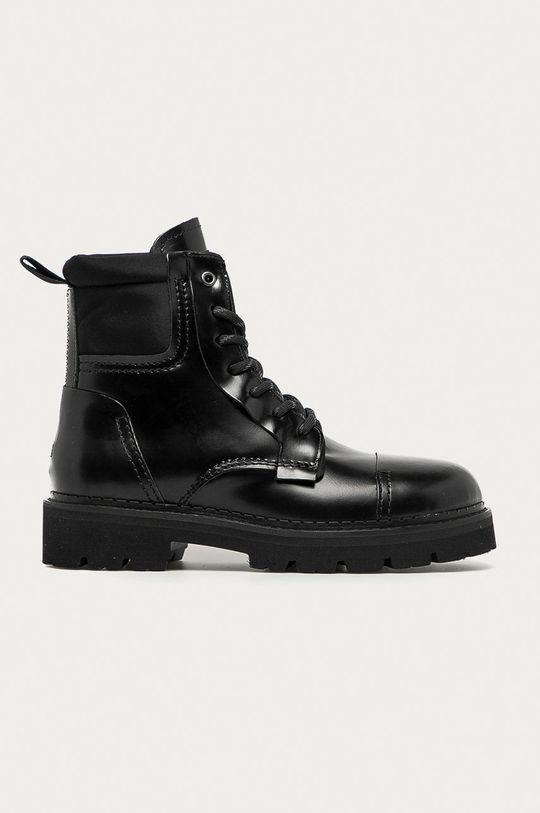 černá Tommy Jeans - Kožené trapery Pánský