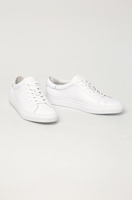 Polo Ralph Lauren - kožené boty bílá