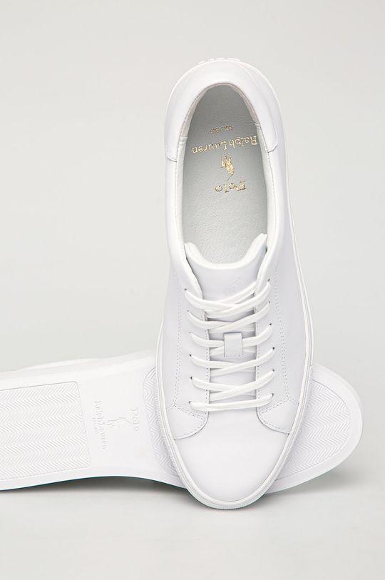 bílá Polo Ralph Lauren - kožené boty
