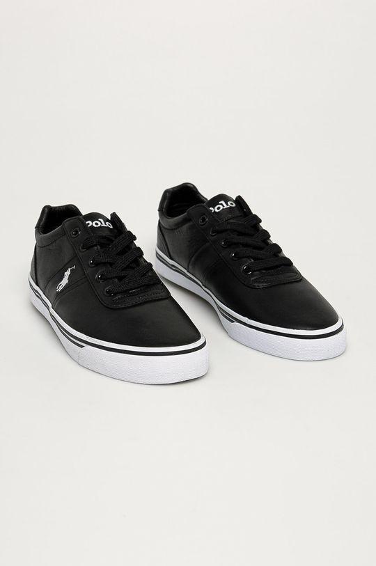Polo Ralph Lauren - Kožené boty černá