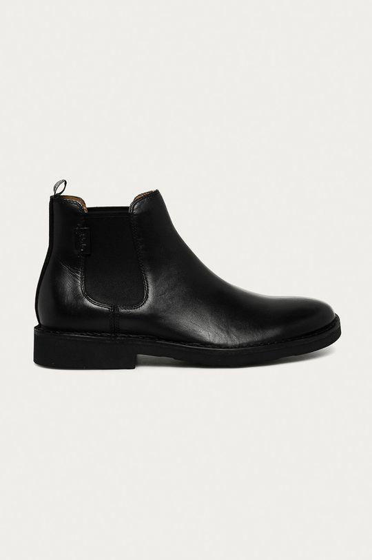 černá Polo Ralph Lauren - Kožené kotníkové boty Pánský