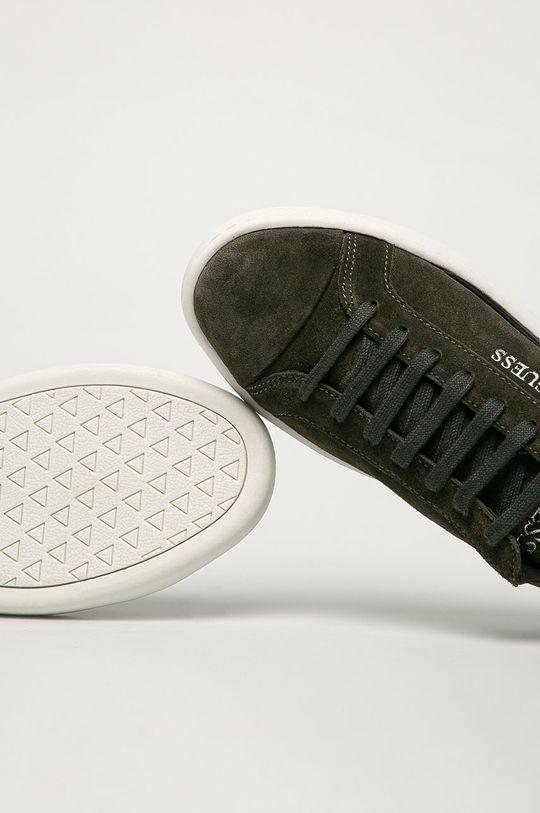 hnedo zelená Guess Jeans - Semišové topánky
