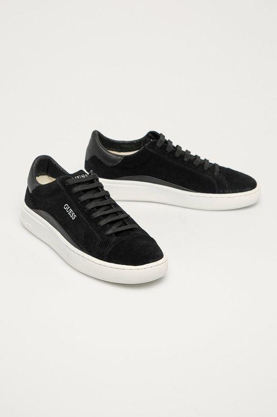 Guess Jeans - Semišové topánky čierna