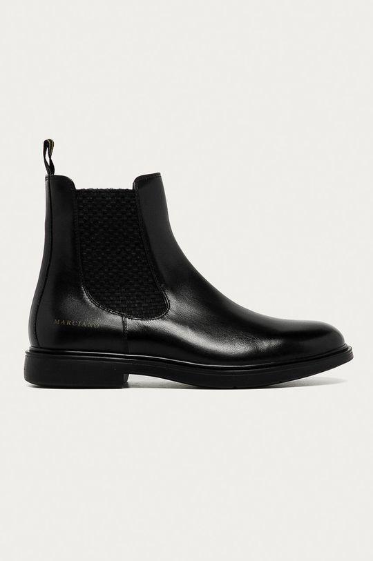 černá Marciano Guess - Kožené kotníkové boty Pánský