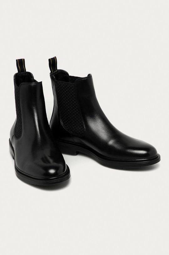 Marciano Guess - Kožené kotníkové boty černá