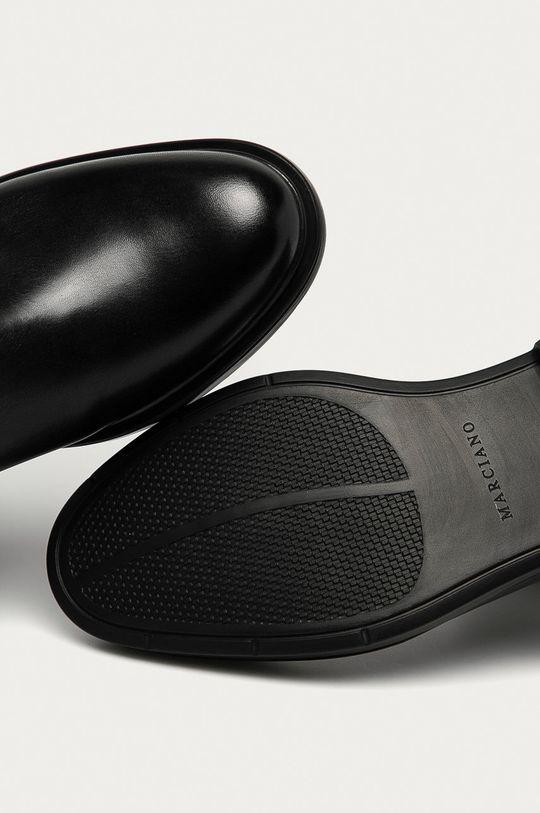 černá Marciano Guess - Kožené kotníkové boty