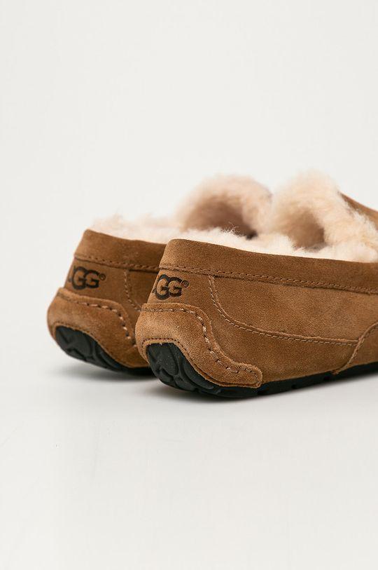 золотисто-коричневий UGG - Шкіряні тапочки Ascot