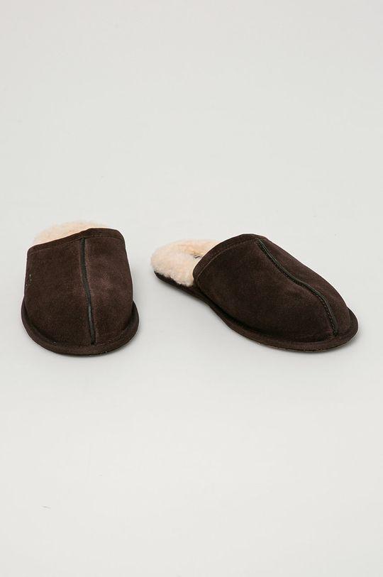 UGG - Semišové papuče Scuff hnědá