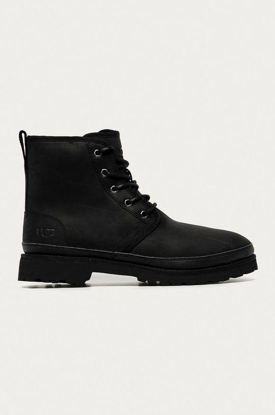 čierna UGG - Kožená obuv Harkland Pánsky