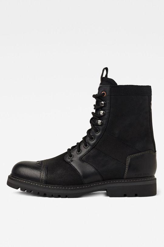 černá G-Star Raw - Kožené boty Pánský