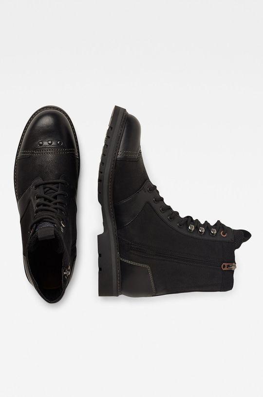 G-Star Raw - Kožené boty černá