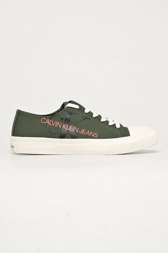 ciemny zielony Calvin Klein Jeans - Tenisówki Męski