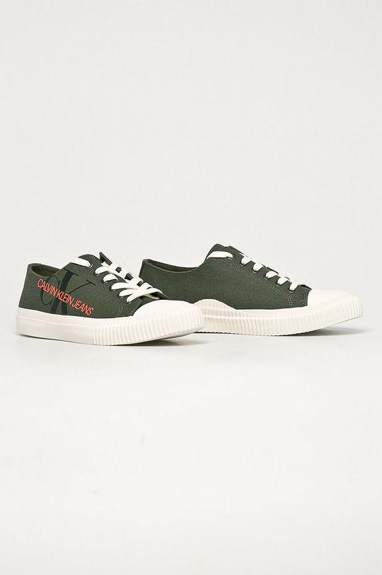 Calvin Klein Jeans - Tenisówki ciemny zielony