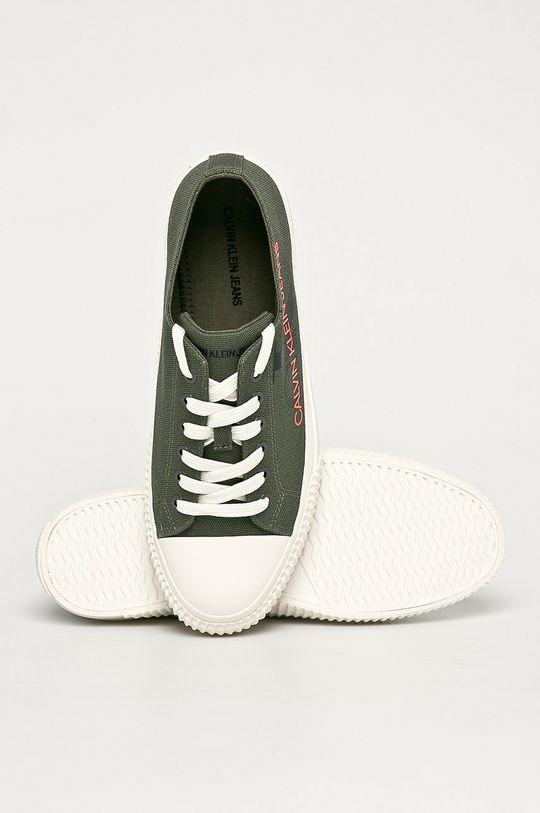 ciemny zielony Calvin Klein Jeans - Tenisówki